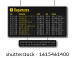 departure and arrival board ...   Shutterstock .eps vector #1615461400