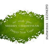 green merry christmas card with ... | Shutterstock .eps vector #161546393