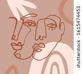 boho pastel terracotta collage... | Shutterstock .eps vector #1615474453
