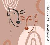 boho pastel terracotta collage... | Shutterstock .eps vector #1615474480