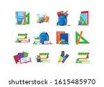 school icon set design ... | Shutterstock .eps vector #1615485970