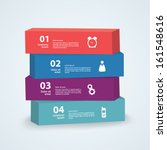 vector 3d template. four boxes... | Shutterstock .eps vector #161548616