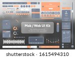 orange user interface template...