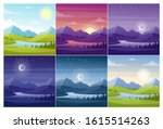 nature landscapes at different... | Shutterstock .eps vector #1615514263