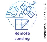 remote sensing concept icon.... | Shutterstock .eps vector #1615518613