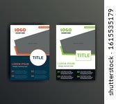orange and green vector flyer ...   Shutterstock .eps vector #1615535179