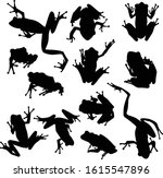 vector set of frogs silhouettes ... | Shutterstock .eps vector #1615547896