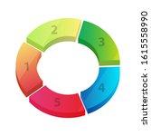 bright gradient color 3d circle ... | Shutterstock .eps vector #1615558990