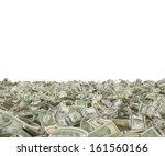 1 5 10 20 50 100 dollar bills... | Shutterstock . vector #161560166