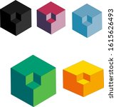 3d modern geometric design... | Shutterstock .eps vector #1615626493