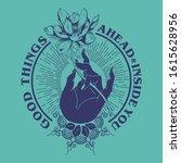 good things ahead slogan print... | Shutterstock .eps vector #1615628956