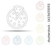 chopped pizza in multi color...