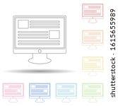 digital news in multi color...