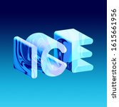 marbling word ice 3d...   Shutterstock . vector #1615661956