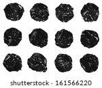 set of vector ink scratched... | Shutterstock .eps vector #161566220