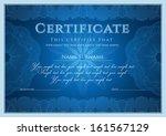 certificate  diploma of... | Shutterstock .eps vector #161567129