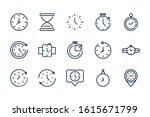 time clock timer hour date...   Shutterstock .eps vector #1615671799