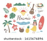 nature and hawaiian culture... | Shutterstock .eps vector #1615676896