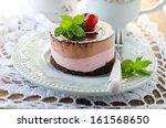 mini cheese cake with cherries   Shutterstock . vector #161568650