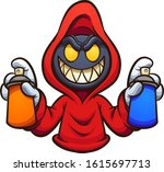 evil hooded character with... | Shutterstock .eps vector #1615697713