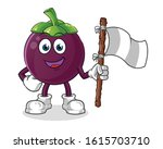 mangosteen smiling and holding...   Shutterstock .eps vector #1615703710