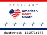 american heart month. in... | Shutterstock .eps vector #1615716196