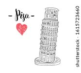 leaning tower of pisa hand...