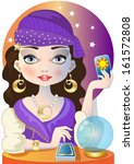 the fortuneteller | Shutterstock .eps vector #161572808