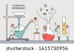 scientists are experimenting... | Shutterstock .eps vector #1615730956