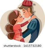 Romeo And Juliet Kissing Vecto...