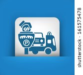 wrecker parking area | Shutterstock .eps vector #161575478
