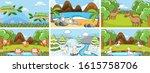 background scenes of animals in ...   Shutterstock .eps vector #1615758706