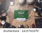 saudi arabia flag between... | Shutterstock . vector #1615761070