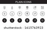 plain icons set. collection of...