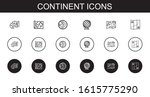 continent icons set. collection ...   Shutterstock .eps vector #1615775290
