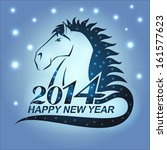 the symbol of new year 2014  ... | Shutterstock .eps vector #161577623