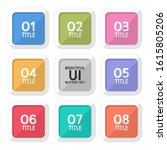 beautiful user interface button ...