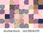 mid century geometric abstract... | Shutterstock .eps vector #1615826239