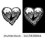 vector illustration of skull...   Shutterstock .eps vector #1615838866