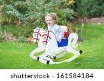 Cute Happy Little Girl On A...