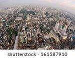 bangkok cityscape expressway... | Shutterstock . vector #161587910