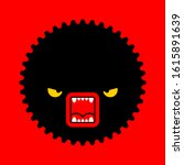 stress sign. hatred face... | Shutterstock .eps vector #1615891639