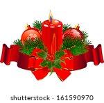 christmas pillar candle...