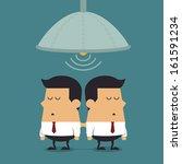 cloning machine of businessmen  ... | Shutterstock .eps vector #161591234