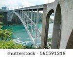 rainbow bridge over the ontario ... | Shutterstock . vector #161591318