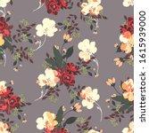 beautiful seamless floral... | Shutterstock . vector #1615939000