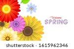 spring background illustration... | Shutterstock .eps vector #1615962346