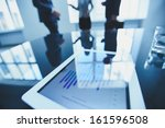 close up of business document... | Shutterstock . vector #161596508