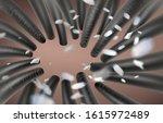 dandruff and dirt float on the... | Shutterstock .eps vector #1615972489