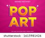 pop art text effect template... | Shutterstock .eps vector #1615981426